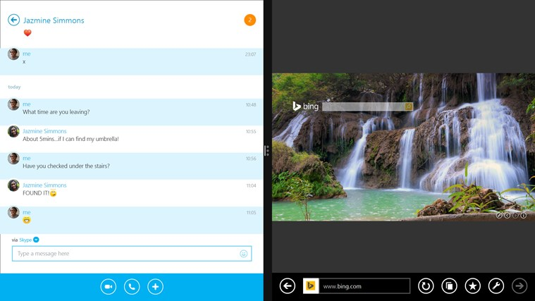 Skype screen shot 4