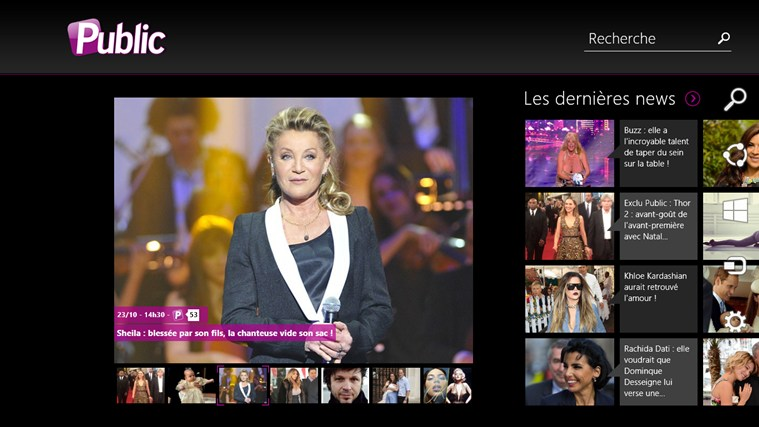Public : actus people et potins de stars screen shot 0