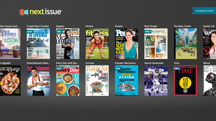 Next Issue Magazines screen shot 2