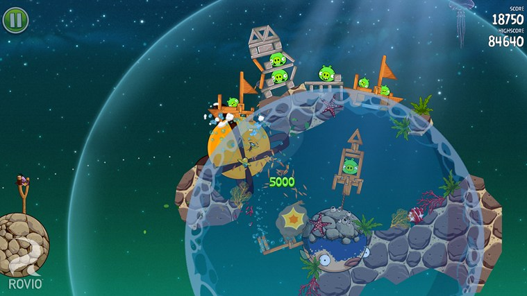 Angry Birds Space screen shot 6