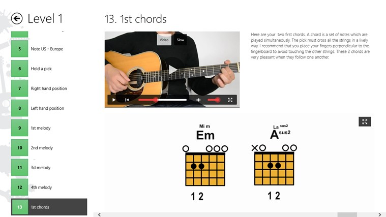 Guitar Lessons Beginners #1 screen shot 2