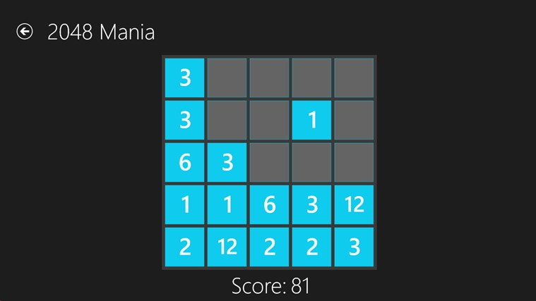 2048 Mania screen shot 4
