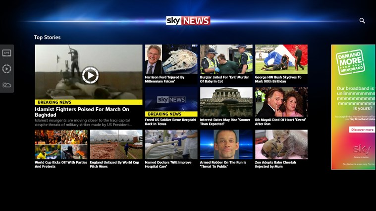 Sky News-skärmbild 0
