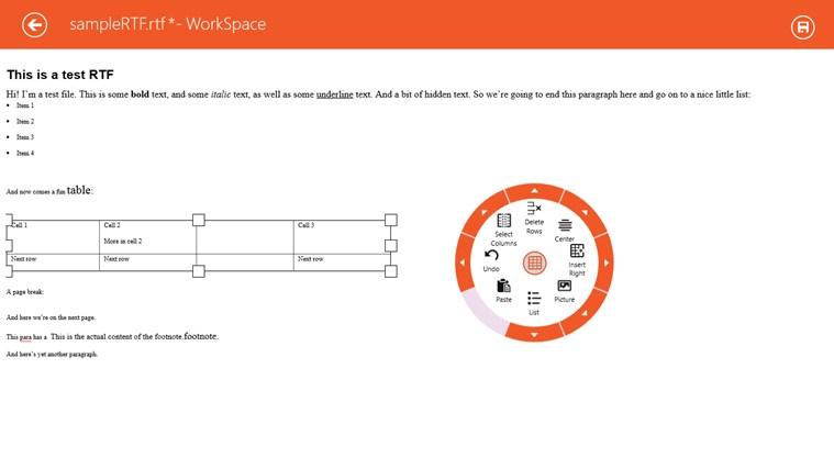 ComponentOne WorkSpace screen shot 0
