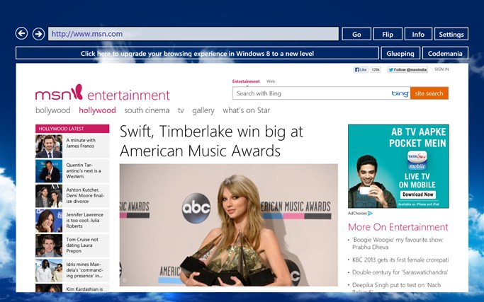 Purple Zune Web Browser snimka zaslona 0