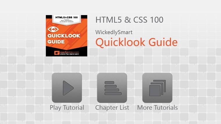 HTML5 & CSS - Quicklook Guide gabháil scáileáin 0