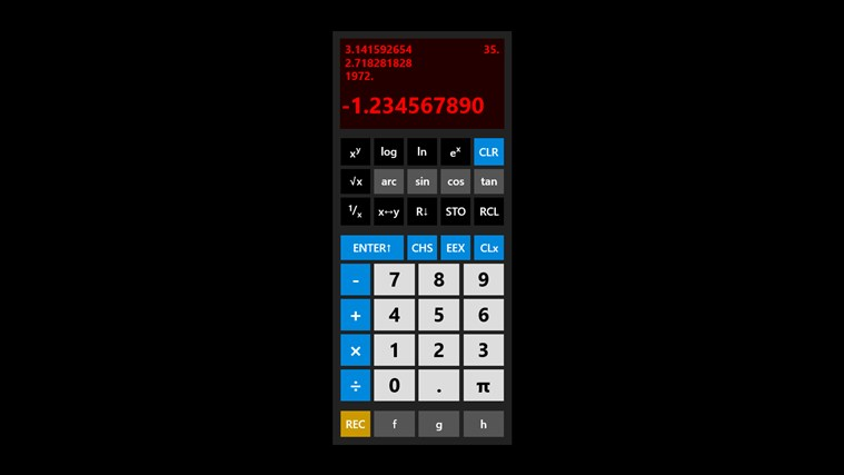 RetroCalc screen shot 2