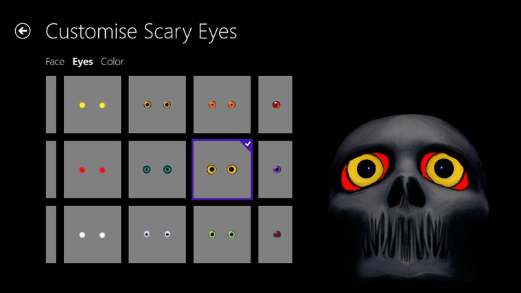 Scary Eyes screen shot 2