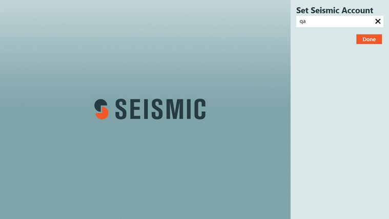 Seismic screen shot 0