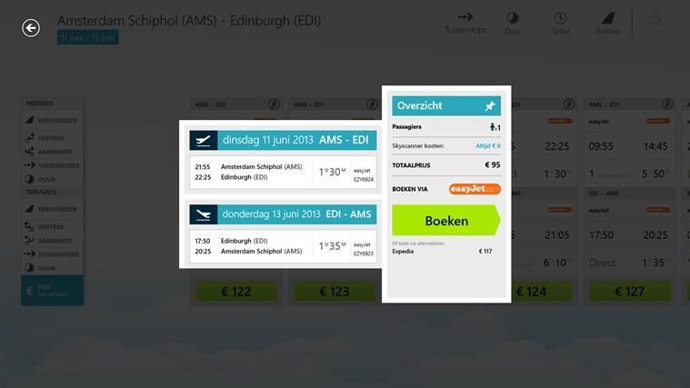 Skyscanner schermafbeelding 6