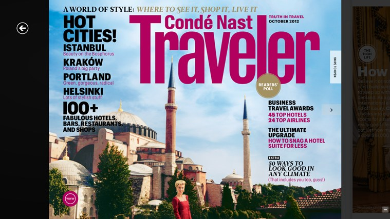 Condé Nast Traveler screen shot 0