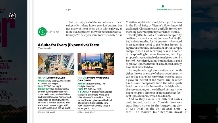 Condé Nast Traveler screen shot 2