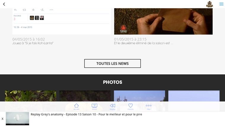 MYTF1 capture d'écran 2