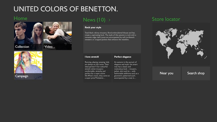 Benetton screen shot 0