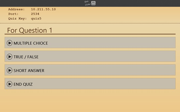 Quiz Clicker screen shot 2