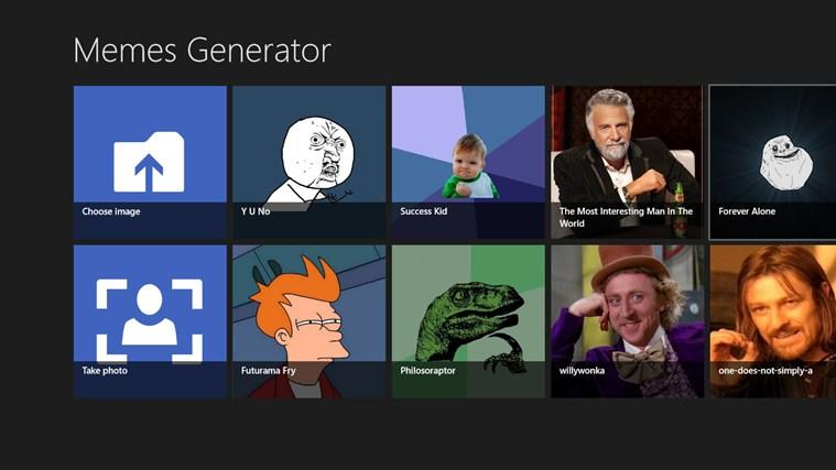 Memes Generator for Win8 UI full screenshot