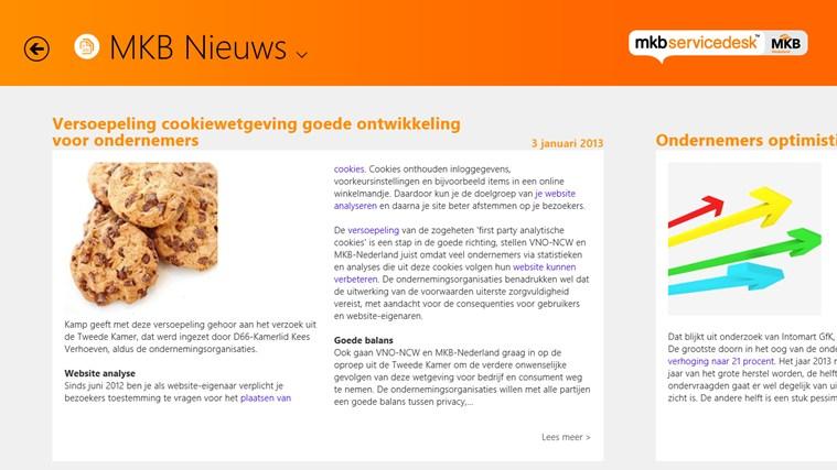 MKB Servicedesk schermafbeelding 2