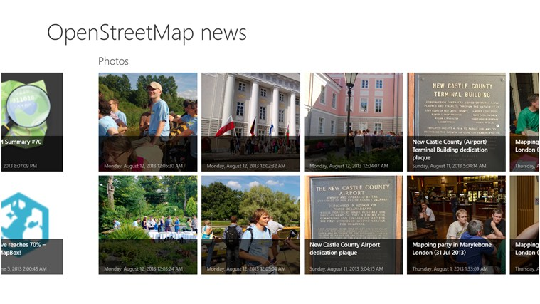 OSM news screen shot 0