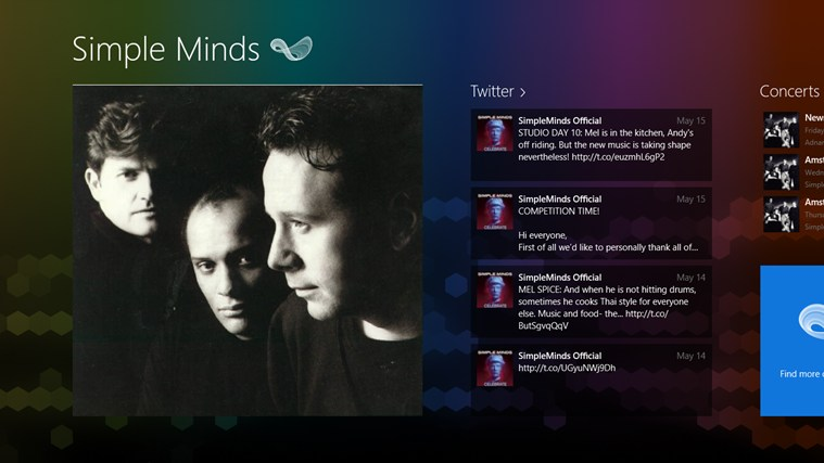 Simple Minds FANfinity screen shot 0