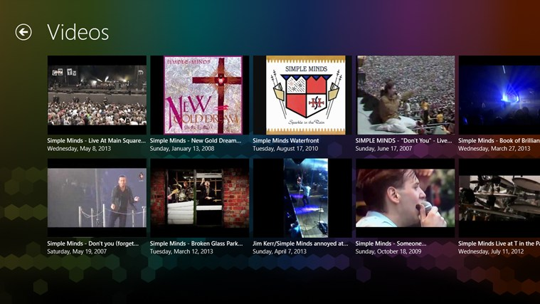 Simple Minds FANfinity screen shot 2