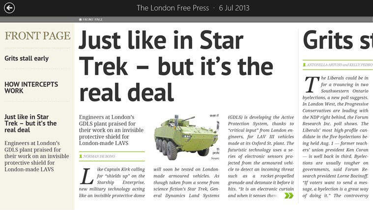 London Free Press-eEdition screen shot 4