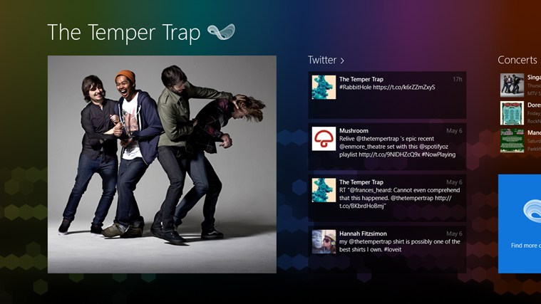 The Temper Trap FANfinity screenshot 0