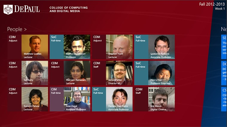 DePaul University CDM screen shot 0