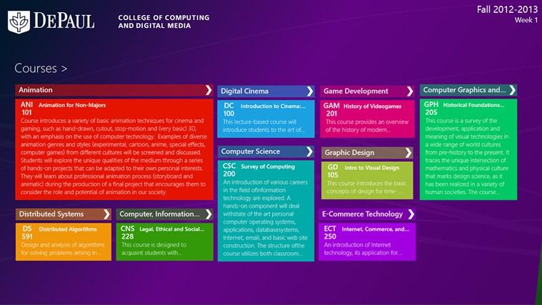 DePaul University CDM screen shot 4