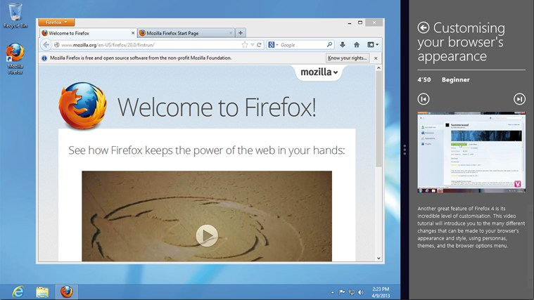Firefox Training captura de pantalla 4