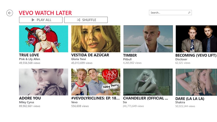 VEVO captura de tela 2