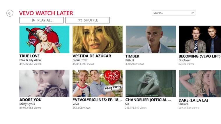 VEVO screen shot 2