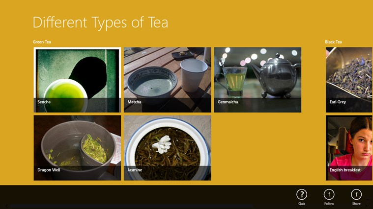 Tea Types screen shot 0