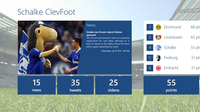 Schalke ClevFoot captura de ecrã 0