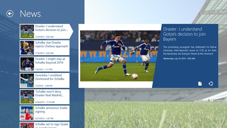 Schalke ClevFoot captura de ecrã 2