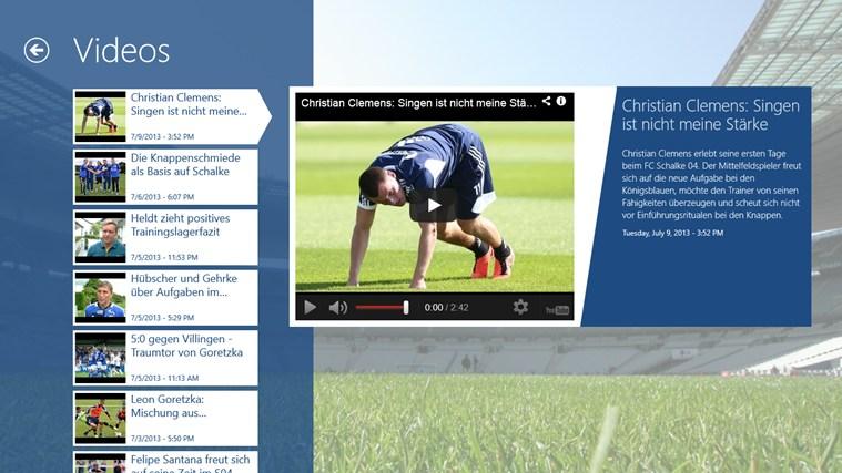 Schalke ClevFoot captura de ecrã 4