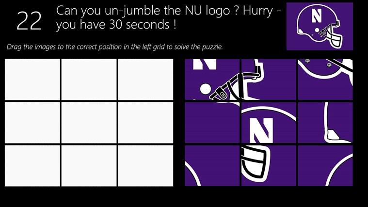 Northwestern Football Logo nu Football Logo Jumble Screen