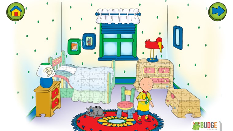 Caillou House of Puzzles screen shot 2