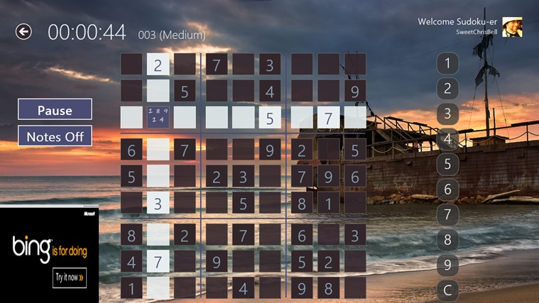 Sudoku Pro Free screen shot 0