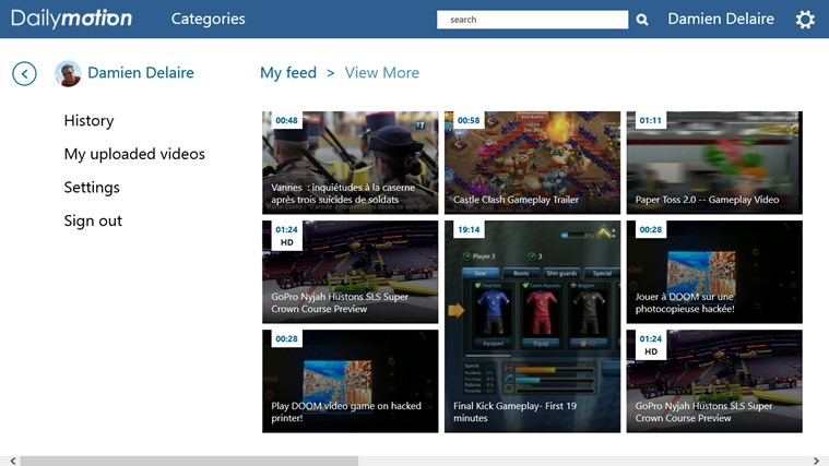 Dailymotion capture d'écran 2