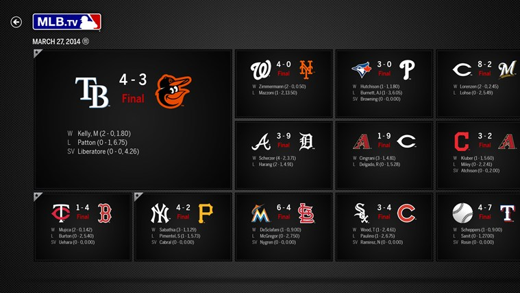 MLB.TV screen shot 0