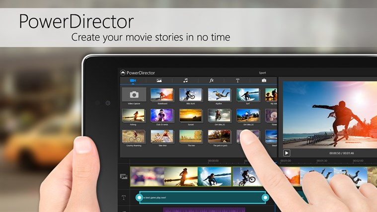 PowerDirector Mobile Video Editor – Bundled screen shot 0