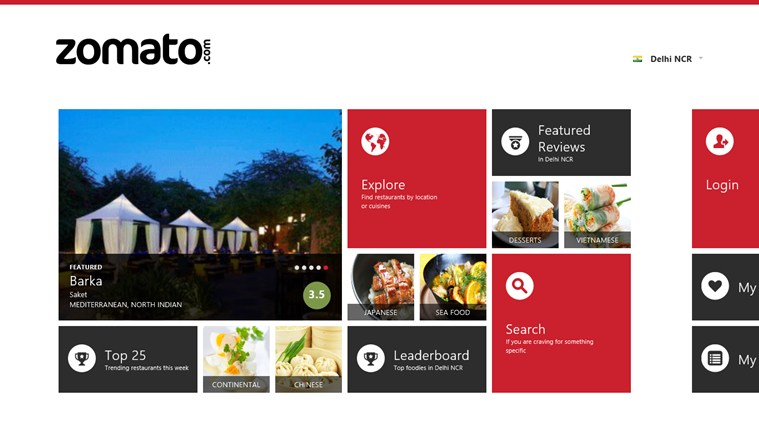 Zomato screen shot 0
