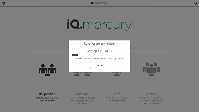 iQ.mercury screen shot 2
