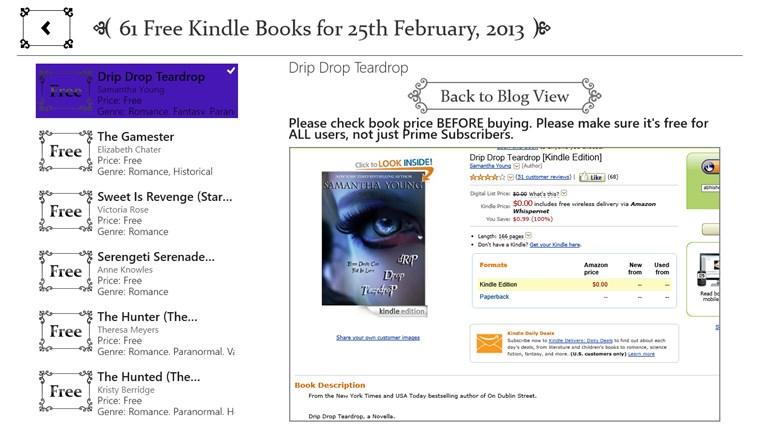 Free Books for Windows screen shot 4