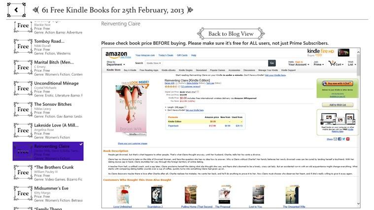 Free Books for Windows screen shot 6