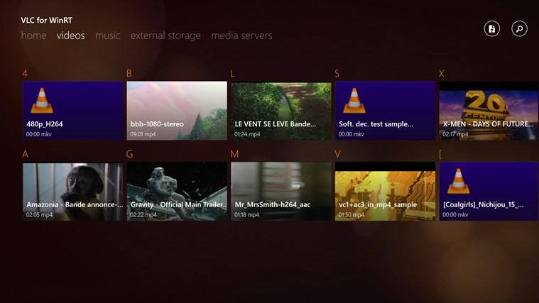 VLC for Windows 8 screen shot 2