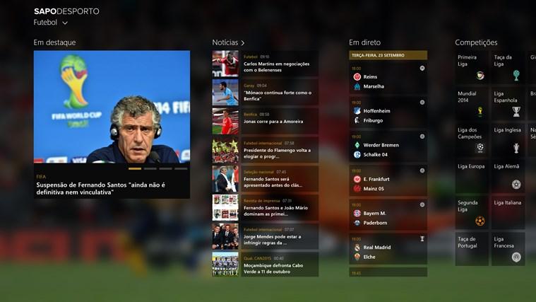 SAPO Desporto captura de ecrã 0