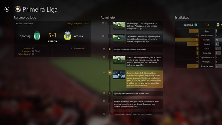 SAPO Desporto captura de ecrã 2