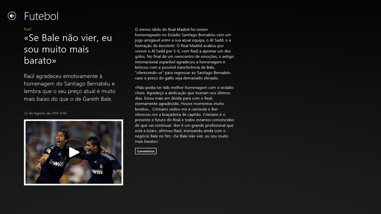 SAPO Desporto captura de ecrã 4