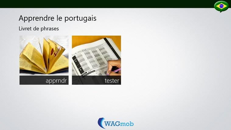 Apprendre le portugais livret de phrases app for windows for Apprendre les livrets
